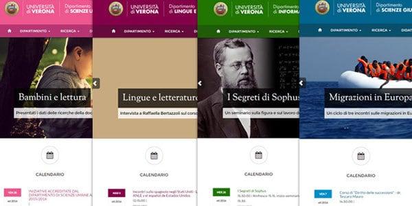Università di Verona: nuovi siti dei dipartimenti