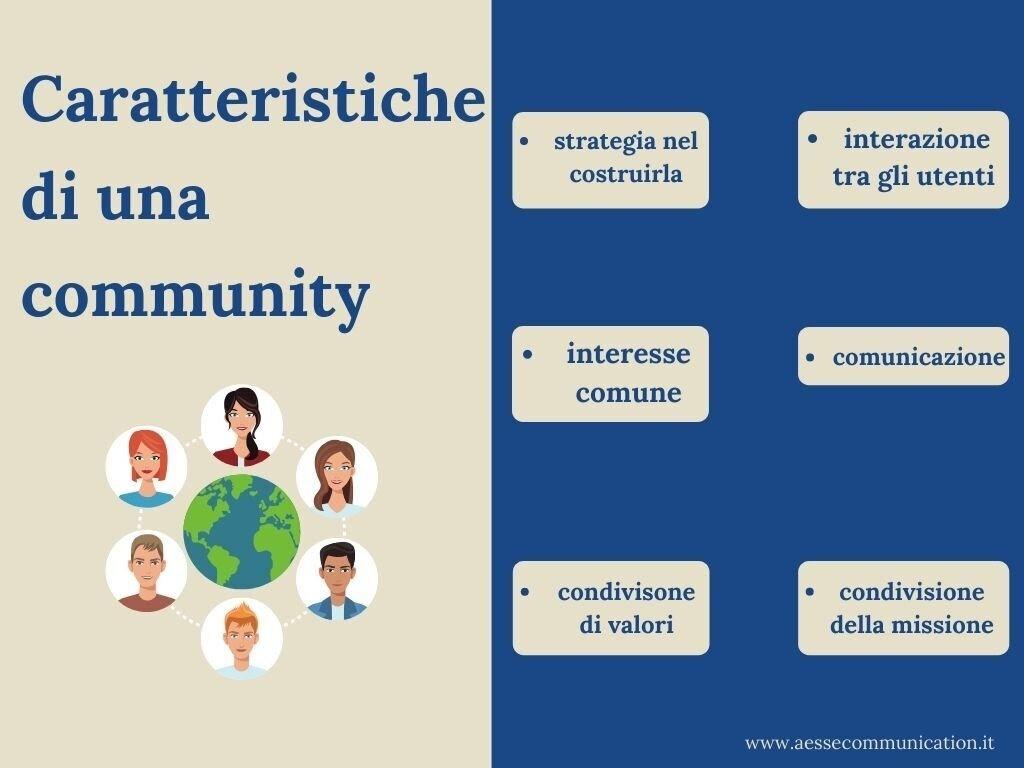 caratteristiche di una community