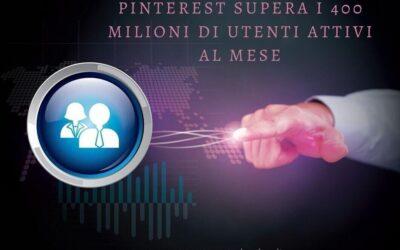 Pinterest supera i 400 milioni di utenti attivi mensili. I protagonisti sono la generazione Z e i millennial