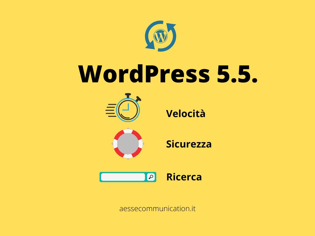 Major release WordPress 5.5 Eckstine - rilasciata il 12 agosto 2020 dagli sviluppatori di wordpress.org