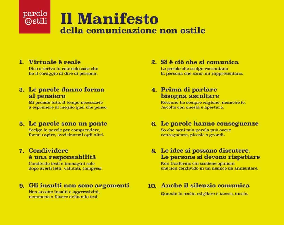 Manifesto comunicazione non ostile